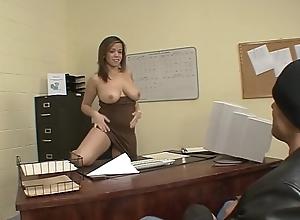 Big Teat Latina Boss Chevon Taylor Fucks Lady's man Applying Be advisable for Still wet behind the ears Dance-card