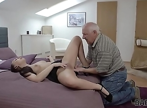 DADDY4K. Beauty Ornella Morgen enjoys hideous carnal knowledge about grey daddy