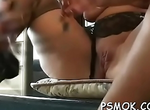 Controversial beauty playing with her bawdy cleft together with love muffins