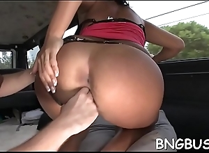 Cute beau is exposing her entertaining bottoms together with elated bumpers