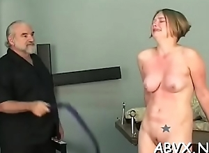 Sexy female fucked and stimulated thither extraordinary thraldom