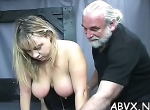 Freezing knock out on mature muff yon hot bondage xxx