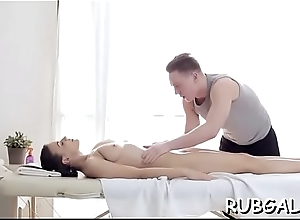 Hawt ramming be worthwhile for a moist and tight pussy in rub down yard