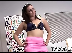Exquisite teen drops sexy hose and toys bawdy cleft with fake penis