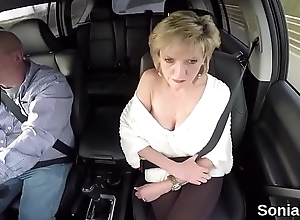 Unfaithful british milf lady sonia shows their way giant tits