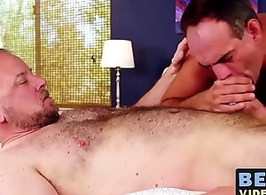 Passionate breeding session with chubby homosexual guys