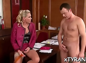 Real knockout gets botheration spanked with an increment of cum-hole crushed by dominatrix