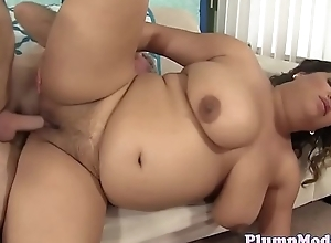 Busty plumper group-fucked in many different positions