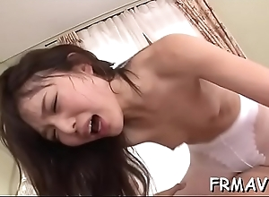 Pretty oriental receives lusty pussy toying dimension engulfing schlong