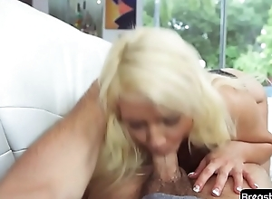 POV milf blows cock and bull