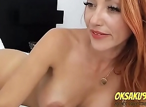 Redhair floozy speaking with subscribers