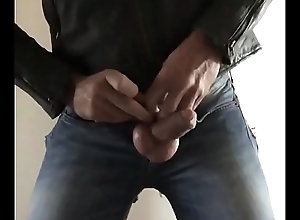 Jerking and gumming give Ripped jeans and leather film
