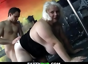 Well-known mangos blonde plumper object doggy-fucked
