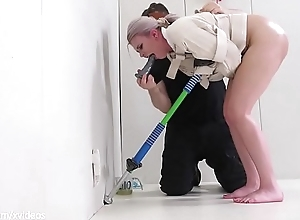 Risible aureate gets an assfucking exposed to a pogo stand fast rimjob castigation