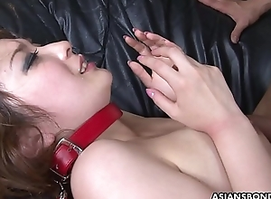 Captive Oriental spoil Aiko Nagai has vassalage threesome with perverts