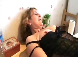 Francoise takes a black cock down be transferred to ass