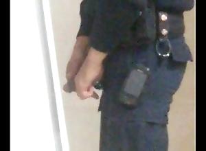 Eavesdrop vulnerable patrolman pissing