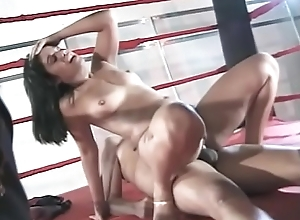 Subfuscous Brazilian neonate is on high her knees engulfing a cock