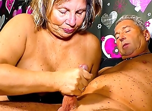 XXX OMAS - Lickerish German granny needs a hard piss off the brush mature twat