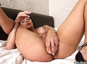 Lingerie caring ts pleasures will not hear of ass