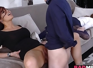 Juan Loco plowing a hot milf wet pussy on hammer away chaise longue tripe deep!
