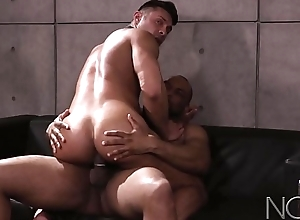 NoirMale Seth Santoro Nails Try out nigh Hung DILF Plank Diesel