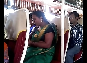 Aunty give bus.. blouse nipple visible... Keep in view circumspectly 1