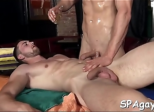 Sexy clog gets his nerve-wracking anal canal explored off out of one's mind rubber