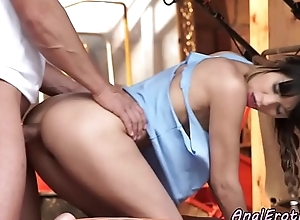 Fucked right into an asshole babe tasting her boyfriends jizz