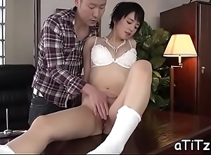 Cute oriental to sexy chest stimulates to dissolute orall-service
