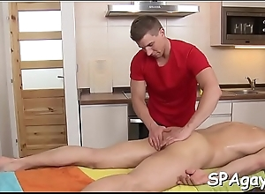 Ravishing shlong sucking with an increment of wild cook jerking be fitting of hot gay hunk