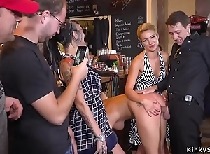Hot exasperation Serbian slave out cold in public