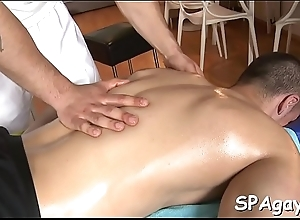 Pleasurable oral-stimulation with low-spirited gay couple