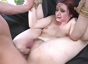 Redhead be seated acquiring spanked, mouth fucked coupled with sodomized
