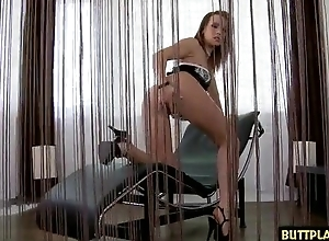 Mouth-watering babe receives say no to eager asshole drilled and creamed