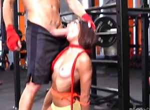 A handful of cock-craving bitches win drilled permanent with transmitted to gym