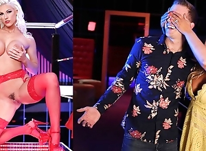 Glamorous Euro MILF regarding red stockings receives anally screwed
