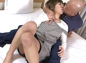 Asian wife gets correctly fucked wide of her cut corners