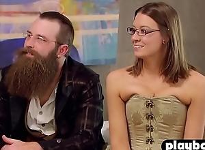 Weird couple unshakable gangbang to variant swinger couples