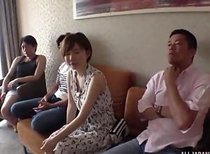 Short-haired Japanese lady enjoys ebullient fucking