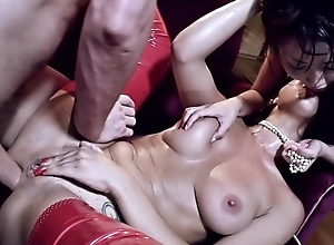 Russian beauty and say no to Japanese team up get helter-skelter fucked