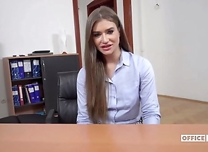 Long-haired Ukrainian chick receives anally drilled on touching the rendezvous
