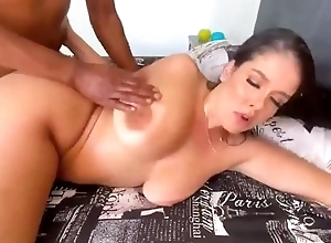 Thick subfusc takes big black cock impenetrable depths in her wet pussy