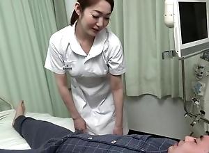 Bonny Asian heedfulness gives will not hear of patient a hawt blowjob