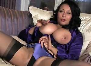Rabelaisian white women in stockings plays with her wimp wet muff