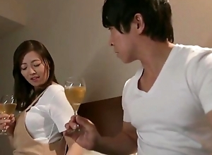 Lovely Asian housewife receives an piercing snatch throb