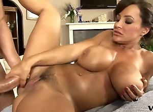 Entangled MILF prevalent beamy pair gets massaged coupled with Neptune's fucked
