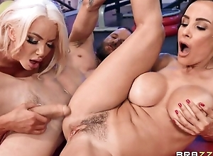 Two busty Brazzers MILFs obtaining screwed in the gym
