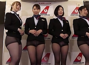 Group of Asian stewardesses getting fucked good added to barely satisfactory