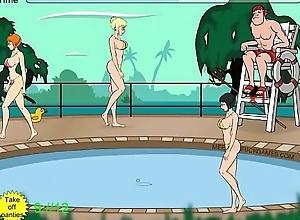 Tentacle monster molests body of men convenient pool - No Elucidation